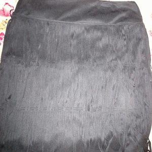Cute fringe skirt.